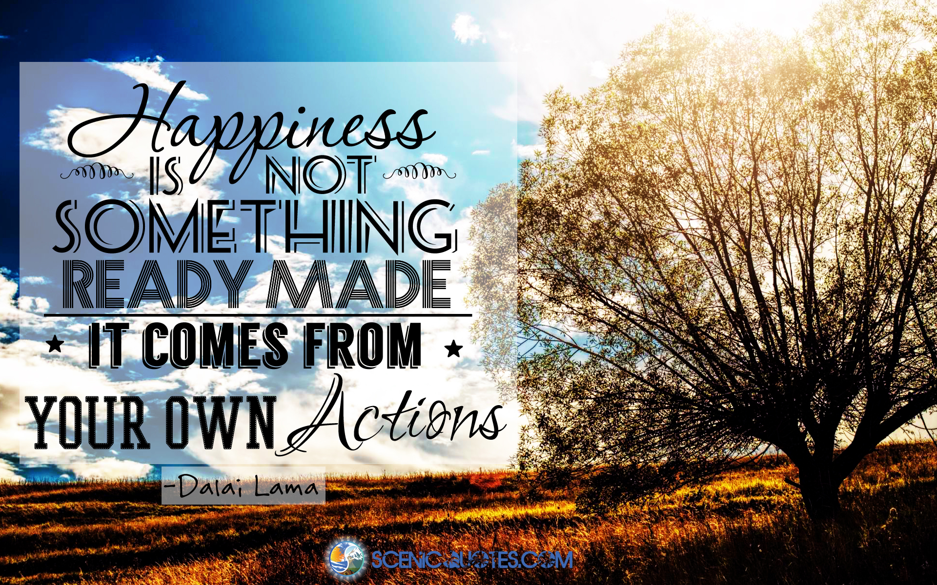 Happiness quotes bu scenicquotes.com